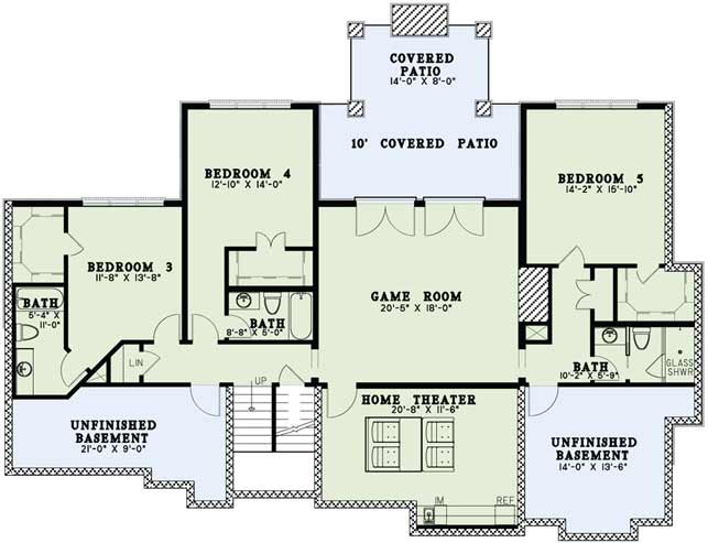 Lower Floor Plan: 12-1423