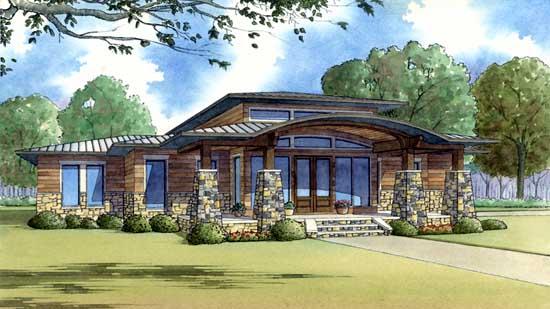 Modern Style House Plans Plan: 12-1424