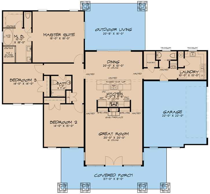 Main Floor Plan: 12-1424