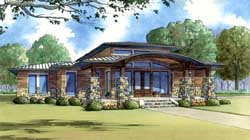 Modern Style Floor Plans Plan: 12-1424