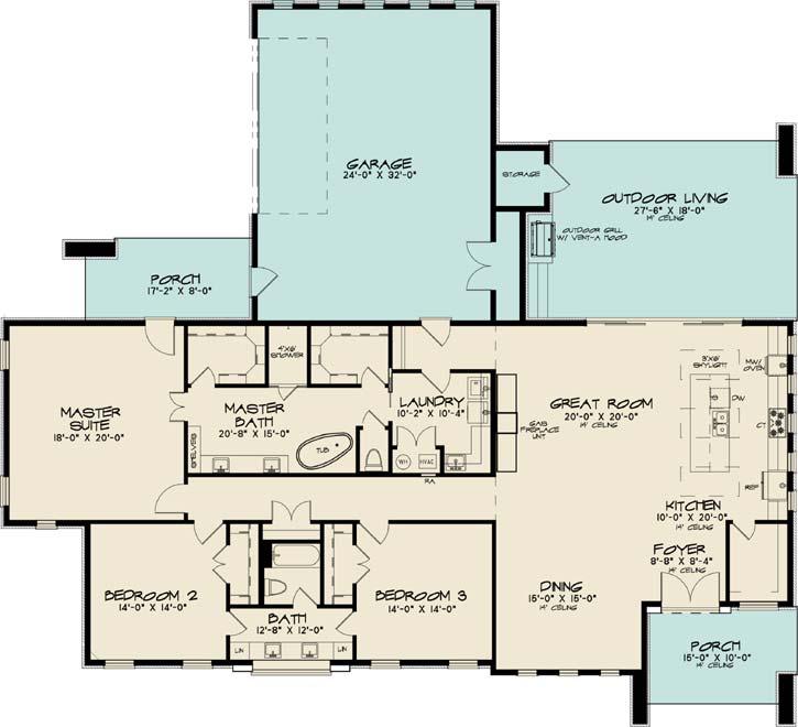 Main Floor Plan: 12-1425