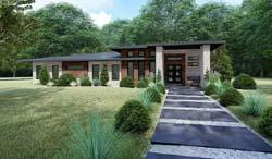 Modern Style Home Design Plan: 12-1425