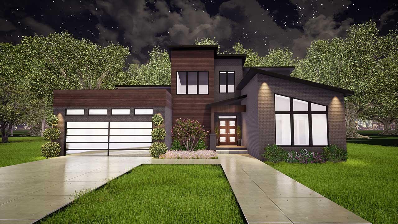 Modern House Plan - 3 Bedrooms, 2 Bath, 2470 Sq Ft Plan 12 ...