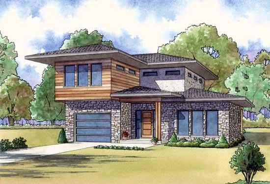 Modern Style House Plans Plan: 12-1427