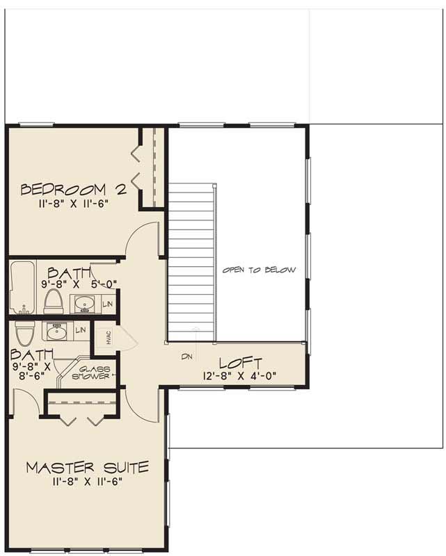 Upper/Second Floor Plan: 12-1427