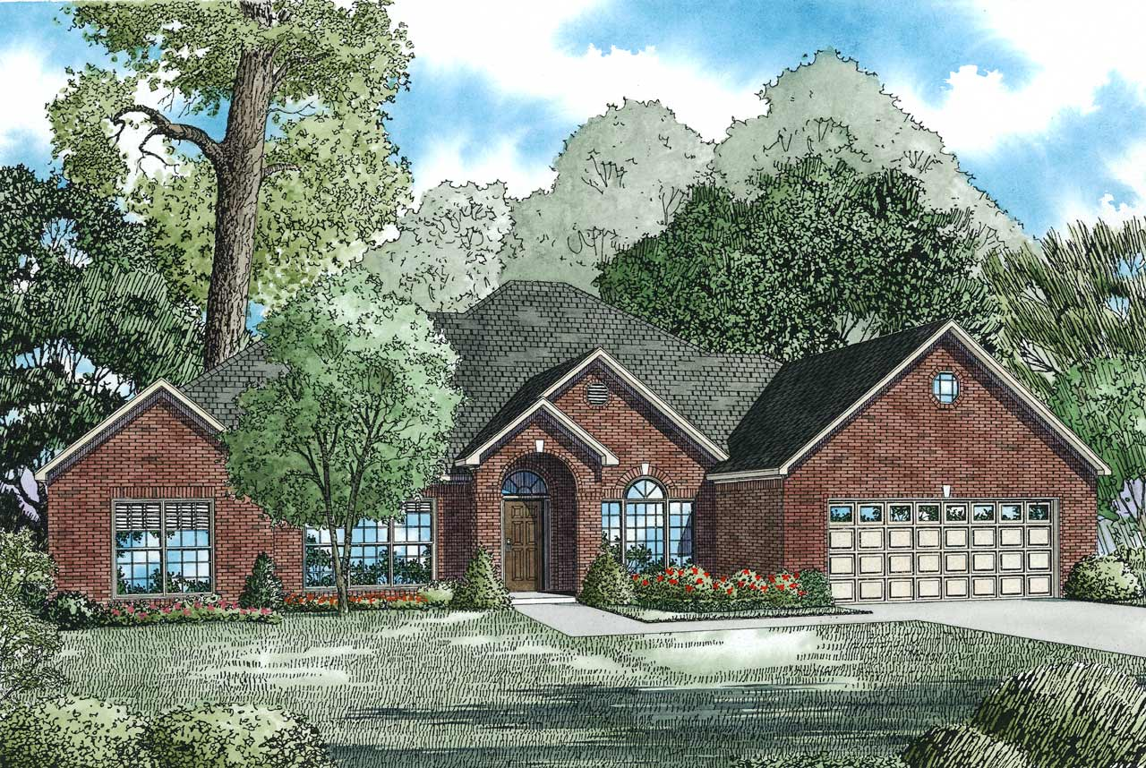 Southern Style Floor Plans Plan: 12-143