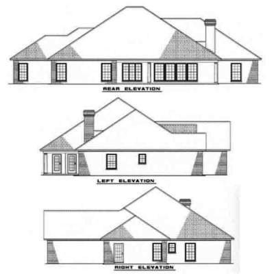 Rear Elevation Plan: 12-143
