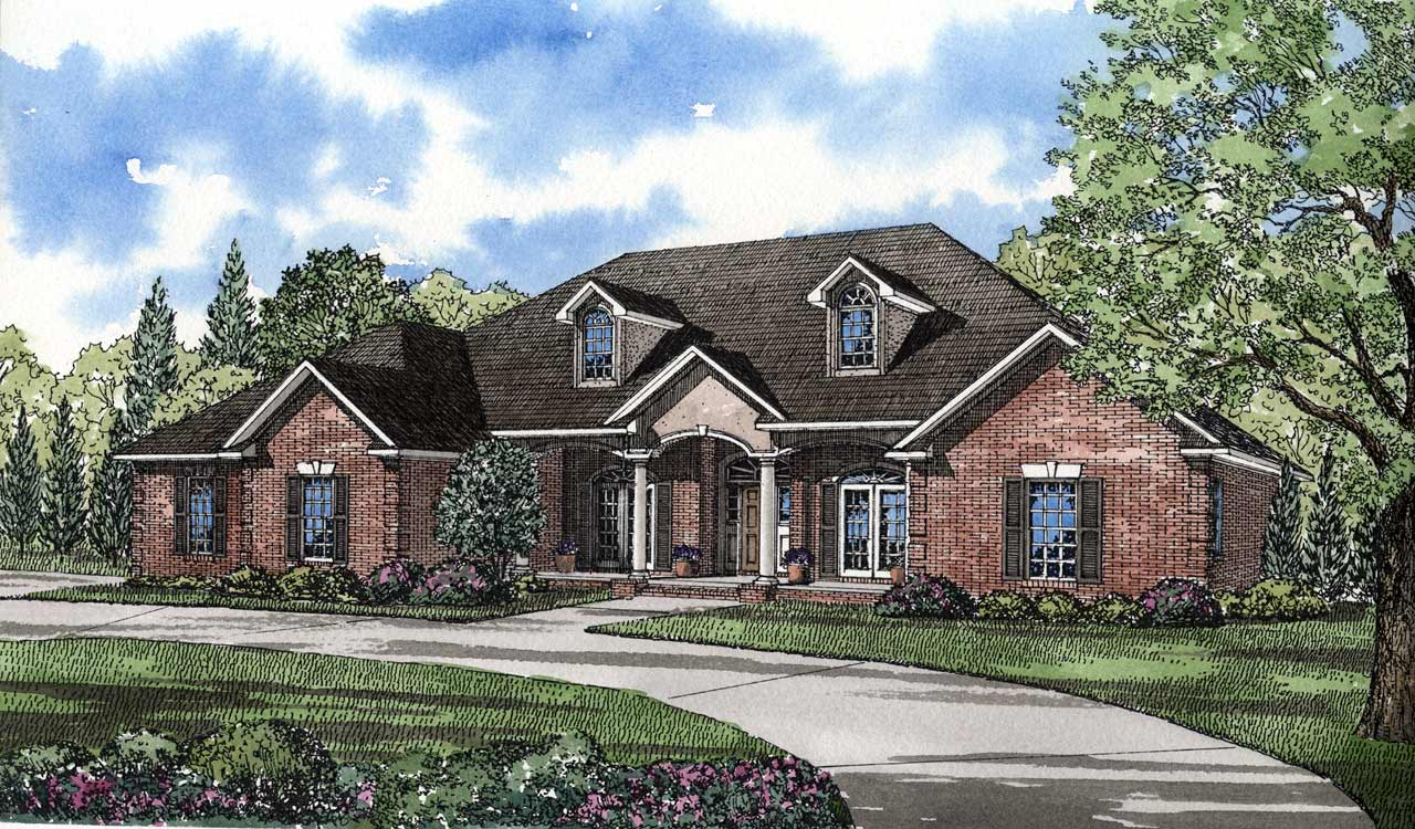 Southern Style Home Design Plan: 12-144