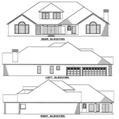 Rear Elevation Plan: 12-144