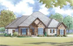 Traditional Style Home Design Plan: 12-1440