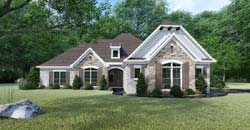 French-Country Style Floor Plans Plan: 12-1445