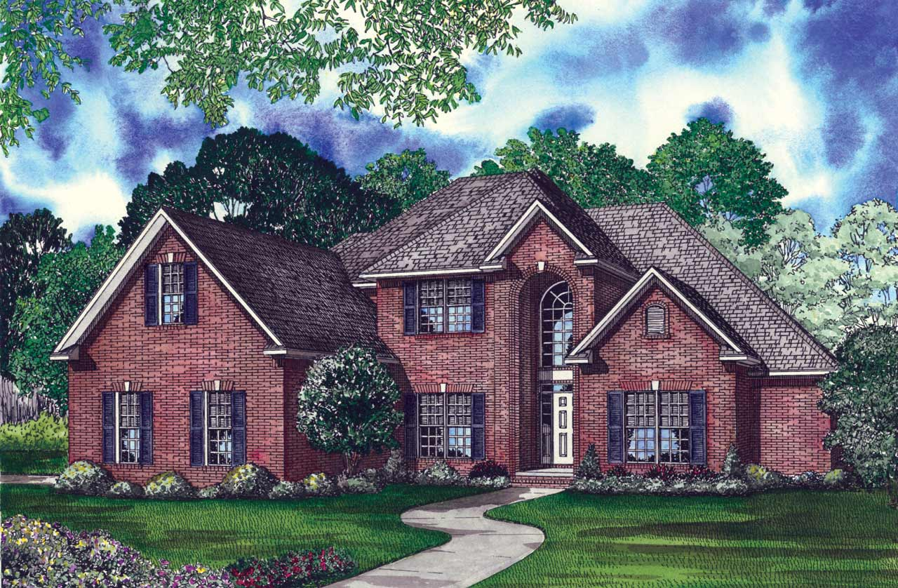 European Style House Plans Plan: 12-145
