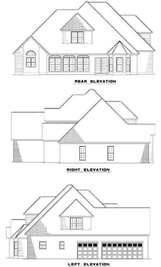 Rear Elevation Plan: 12-145