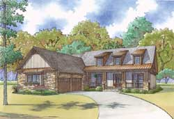 Country Style House Plans Plan: 12-1452