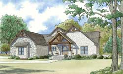 Mountain-or-Rustic Style Floor Plans Plan: 12-1456