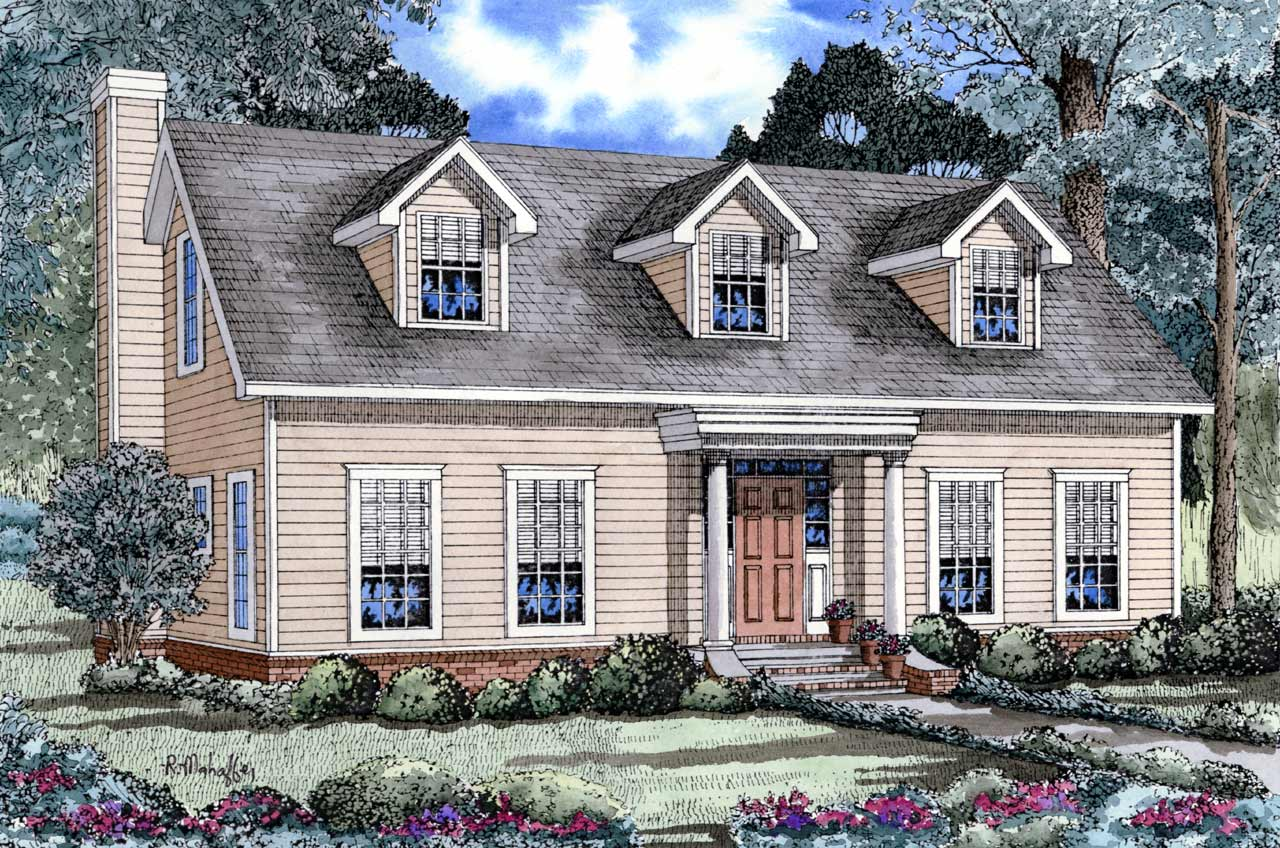 Country Style Floor Plans Plan: 12-146