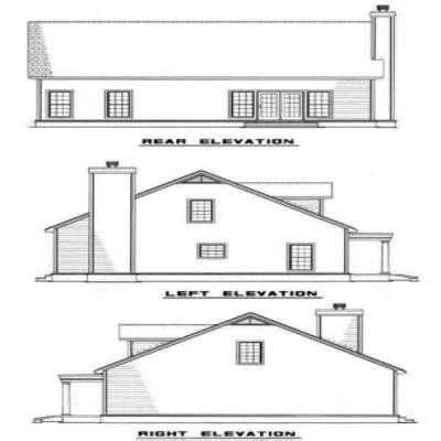 Rear Elevation Plan: 12-146