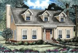 Country Style Home Design Plan: 12-146