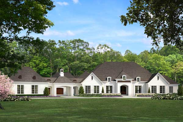 Country House Plan - 5 Bedrooms, 5 Bath, 5695 Sq Ft Plan 12-1460
