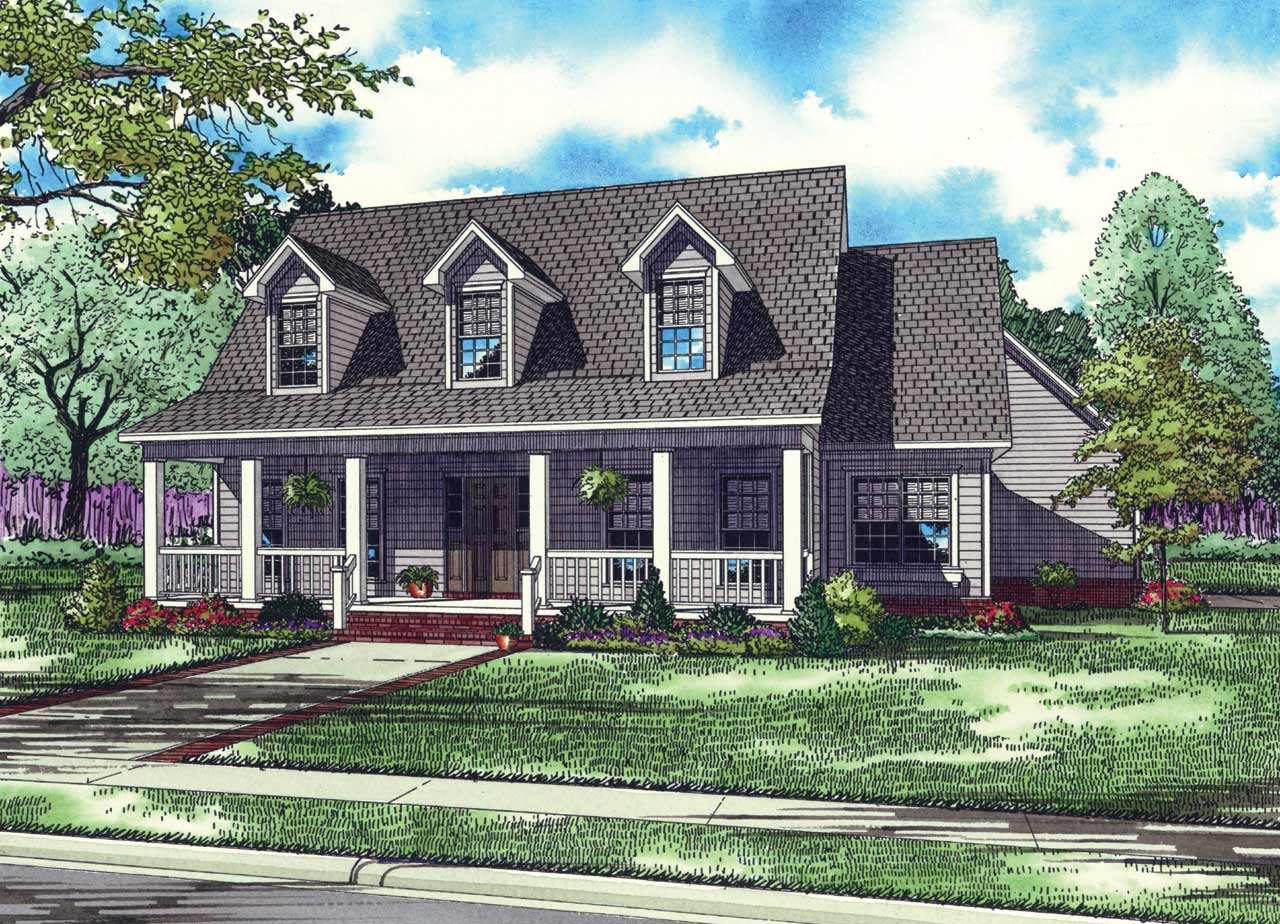 Country Style Floor Plans Plan: 12-147