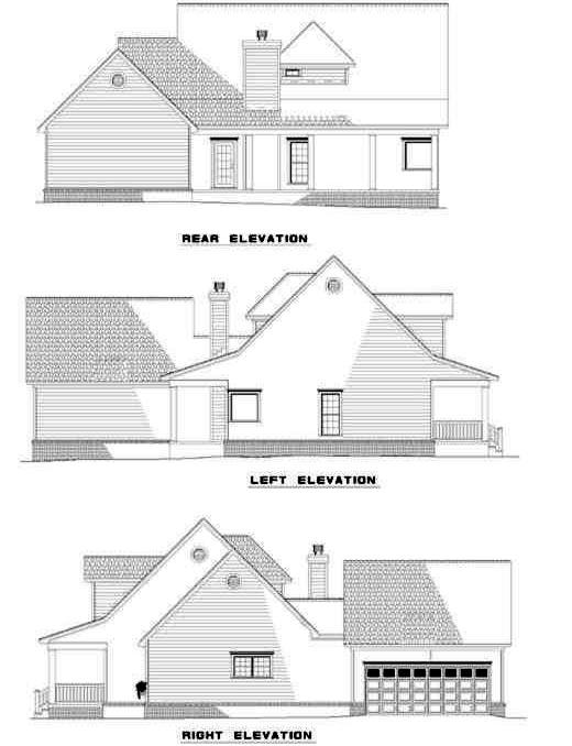 Rear Elevation Plan: 12-147