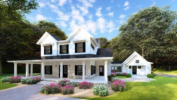 Modern-farmhouse Style House Plans Plan: 12-1477
