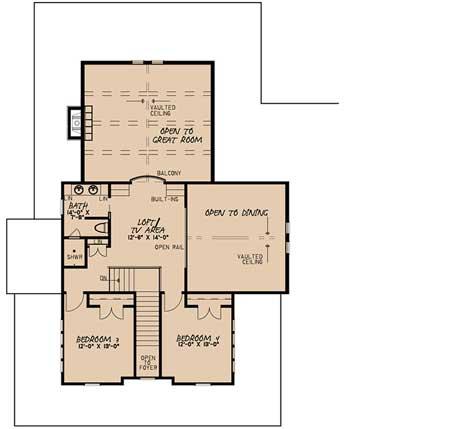 Upper/Second Floor Plan: 12-1477