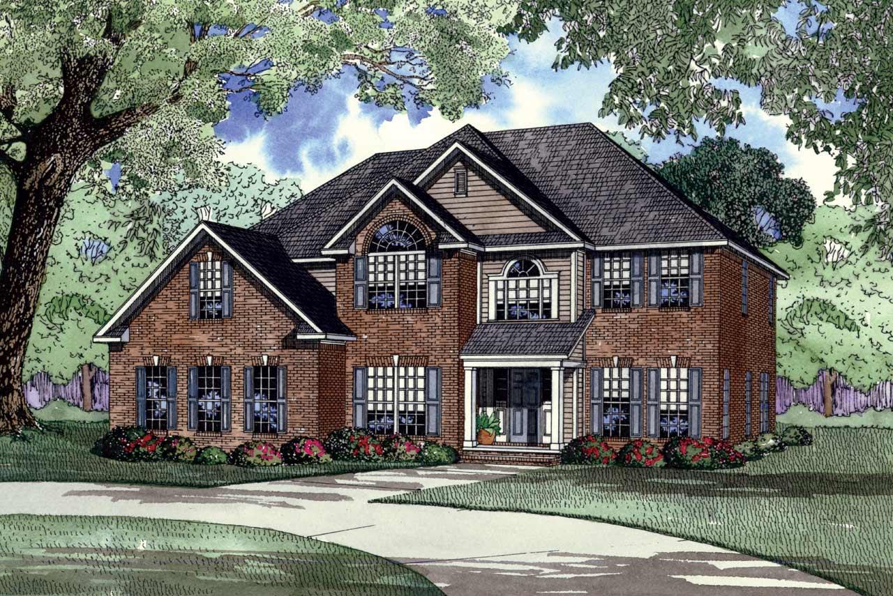 European Style Home Design Plan: 12-148