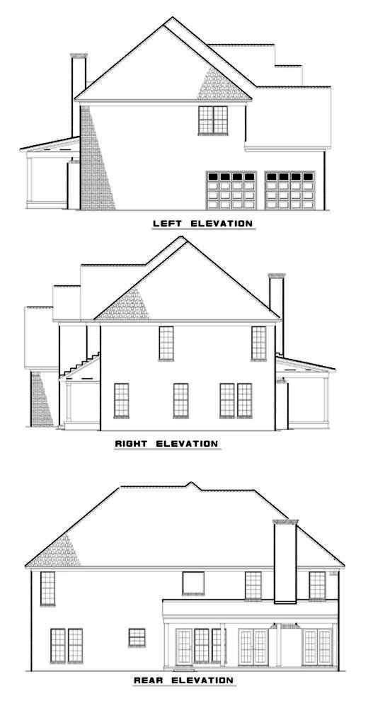 Rear Elevation Plan: 12-148