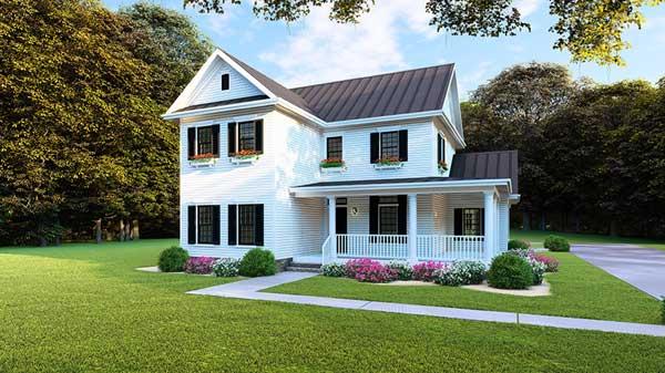 Modern-farmhouse Style House Plans Plan: 12-1483