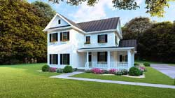 Modern-Farmhouse Style Home Design Plan: 12-1483