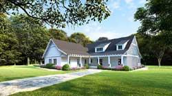 Modern-Farmhouse Style Home Design Plan: 12-1485