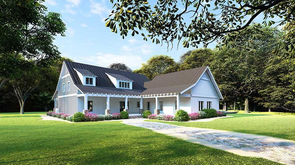 Modern-Farmhouse Style House Plans Plan: 12-1486