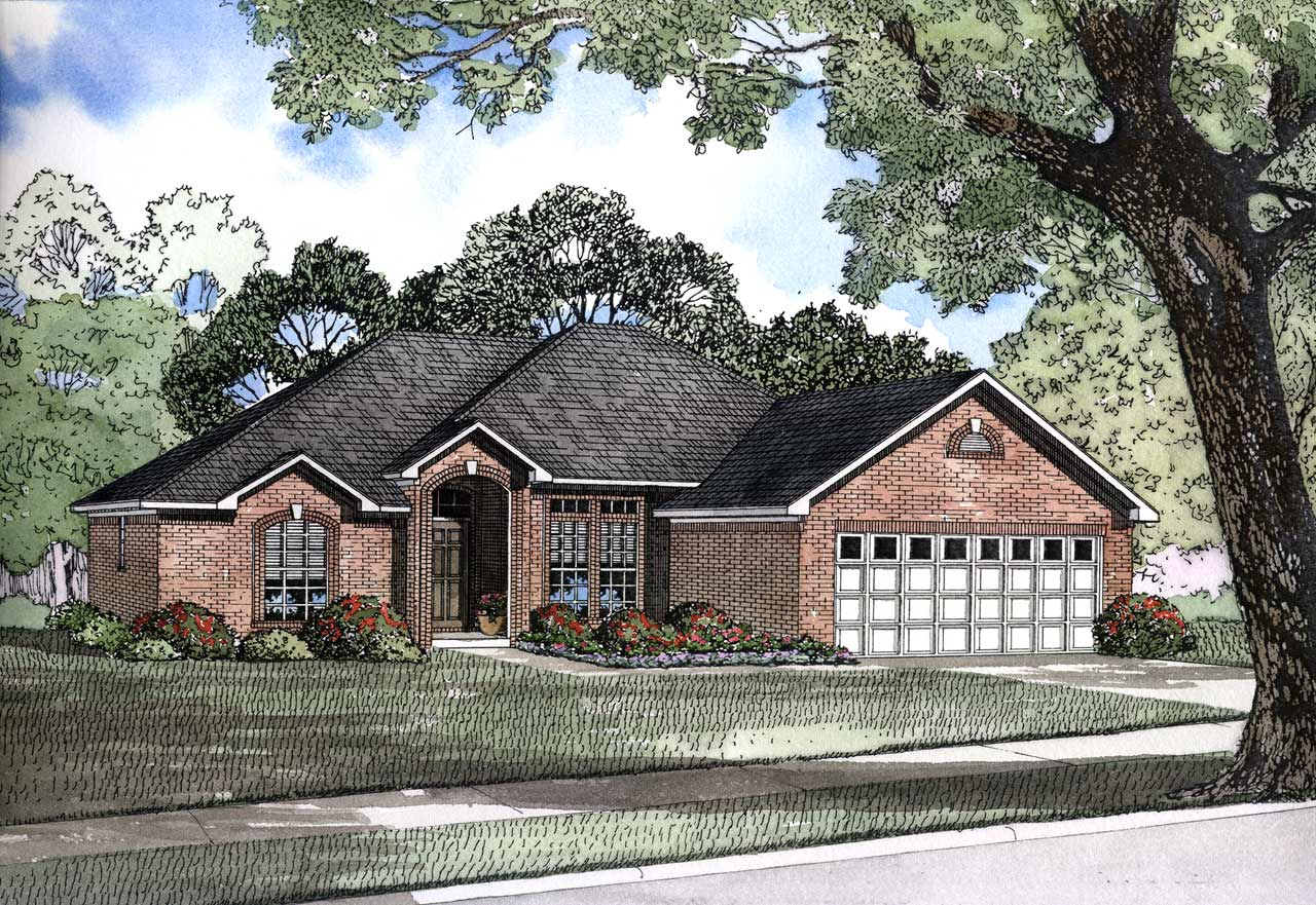 Traditional Style Home Design Plan: 12-149