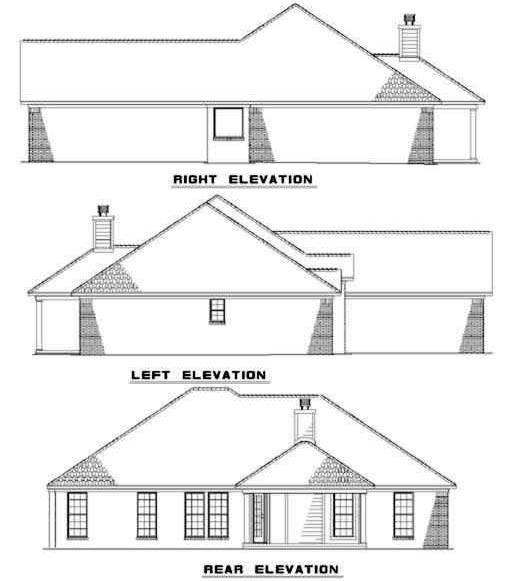Rear Elevation Plan: 12-149