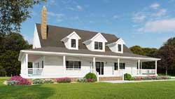 Modern-Farmhouse Style Floor Plans Plan: 12-1490