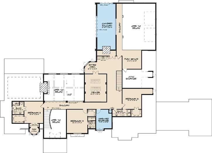 Upper/Second Floor Plan: 12-1493