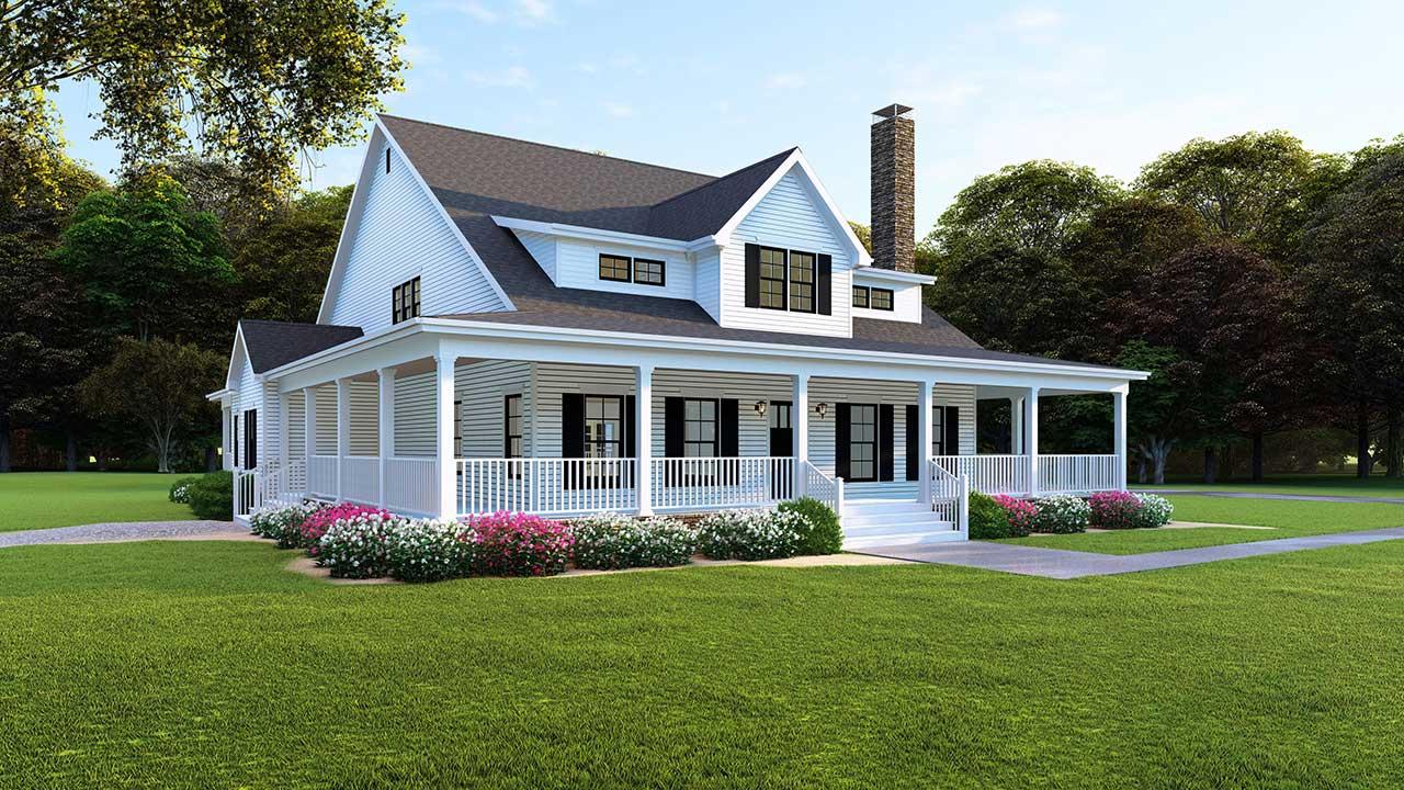 Modern-farmhouse Style Floor Plans Plan: 12-1494