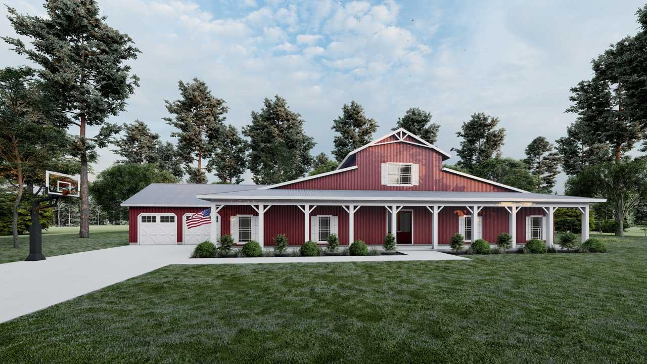 Modern-farmhouse House Plan - 5 Bedrooms, 3 Bath, 3277 Sq ...