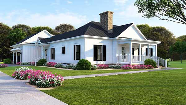 Modern-farmhouse Style Floor Plans Plan: 12-1496