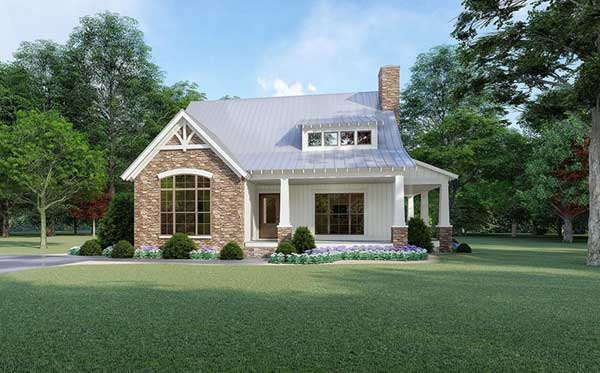 Bungalow Style Home Design Plan: 12-1499