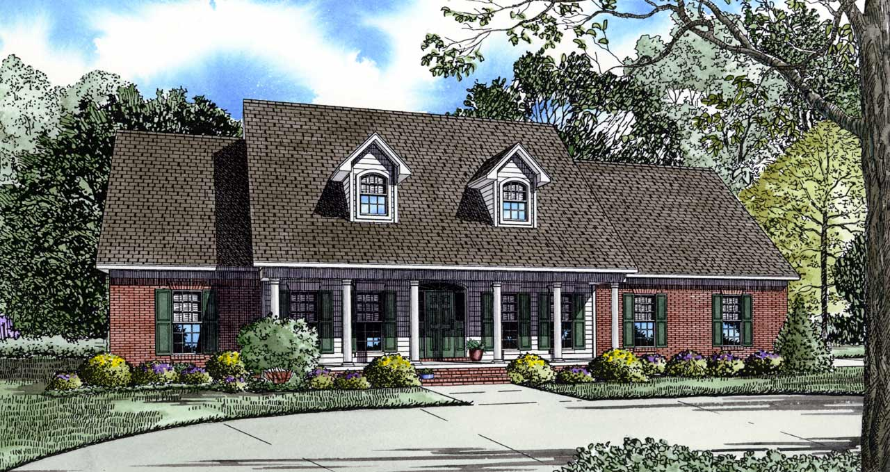 Country Style Home Design Plan: 12-150