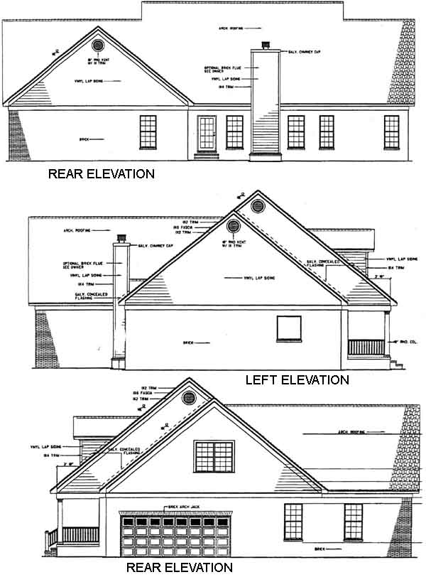 Rear Elevation Plan: 12-150
