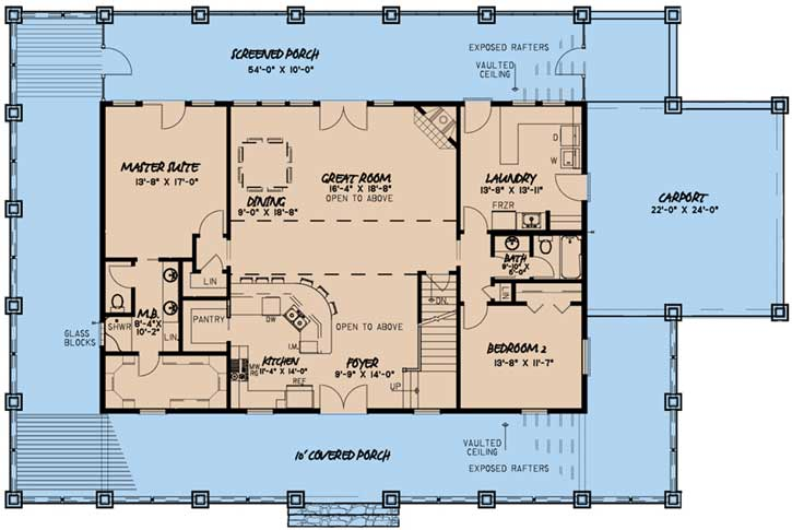 Phenomenal House Plans With Carport Download Free Architecture Designs Embacsunscenecom