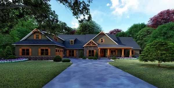 Craftsman Style House Plans Plan: 12-1503