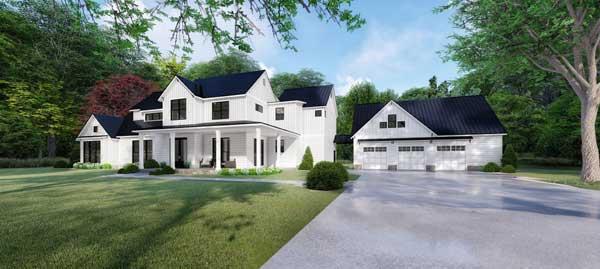 Modern-Farmhouse Style House Plans Plan: 12-1505