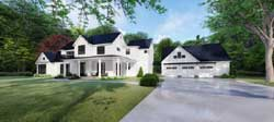 Modern-Farmhouse Style Home Design Plan: 12-1505