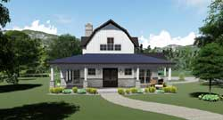 Farm Style Home Design Plan: 12-1506