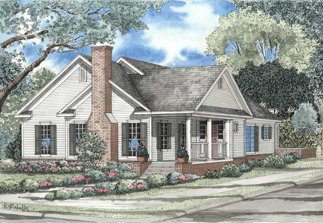 Country Style House Plans Plan: 12-151
