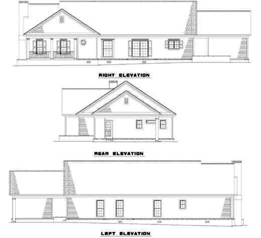 Rear Elevation Plan: 12-151